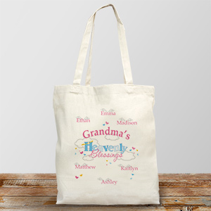 Heavenly Blessings Personalized Canvas Tote Bag