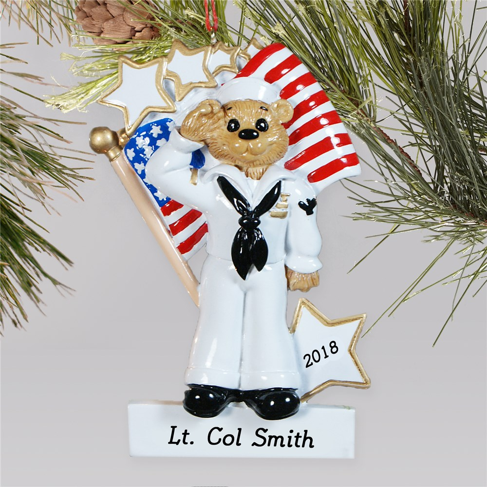 Personalized U.S. Navy Ornament | Personalized Military Christmas Ornaments
