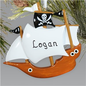 Personalized Pirate Ship Ornament 843693