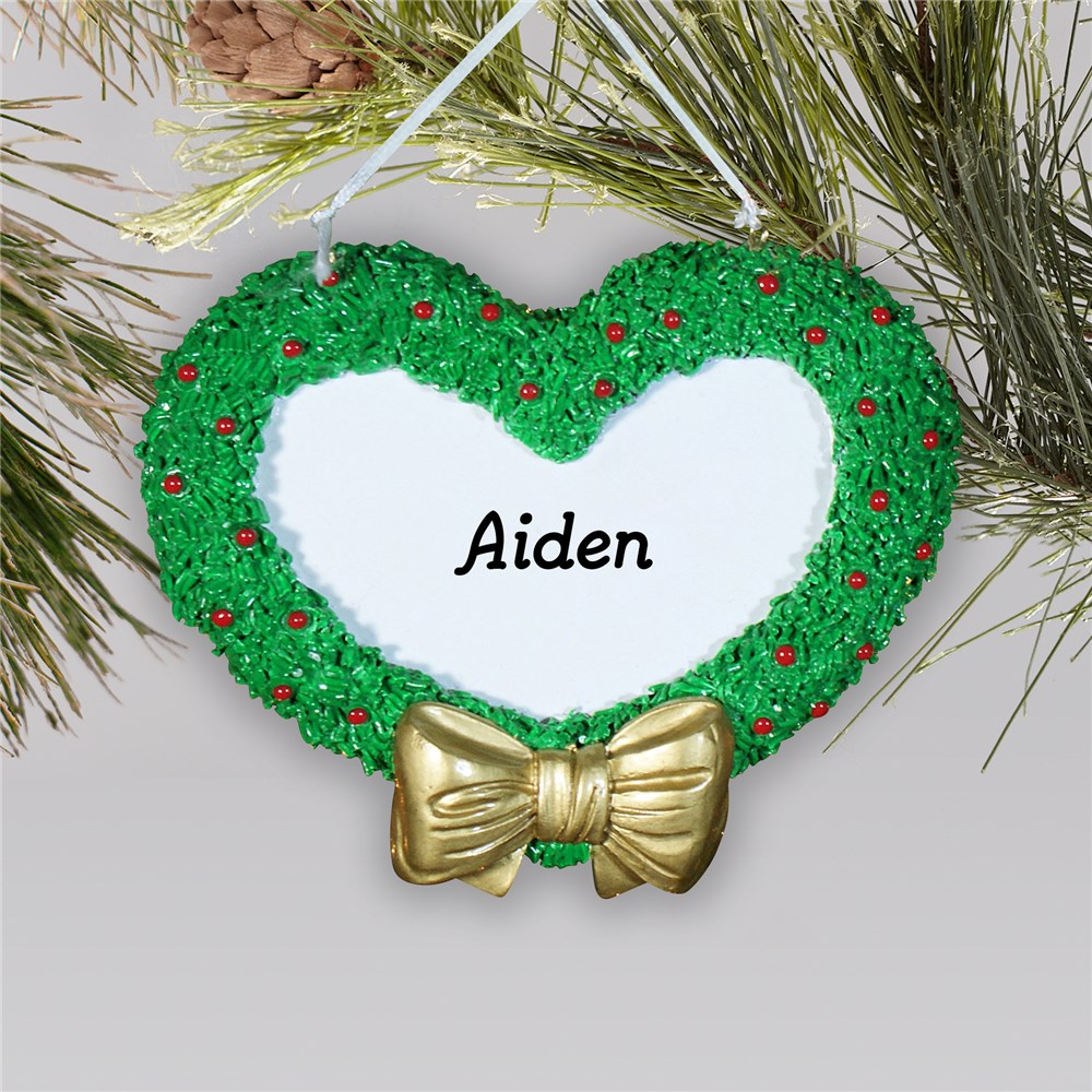 Engraved Heart Wreath Ornament 844013