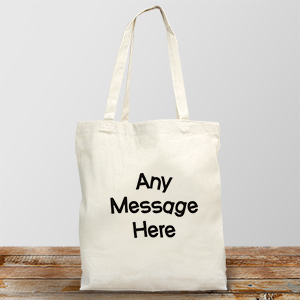Crazy Message Personalized  Canvas Tote Bag