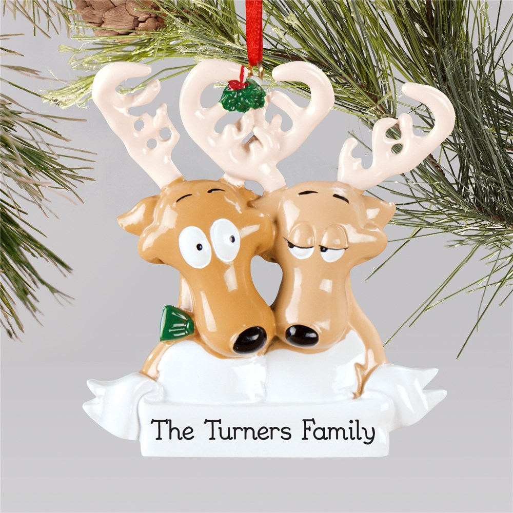 Personalized Reindeer Couple Ornament | Couples Christmas Ornaments