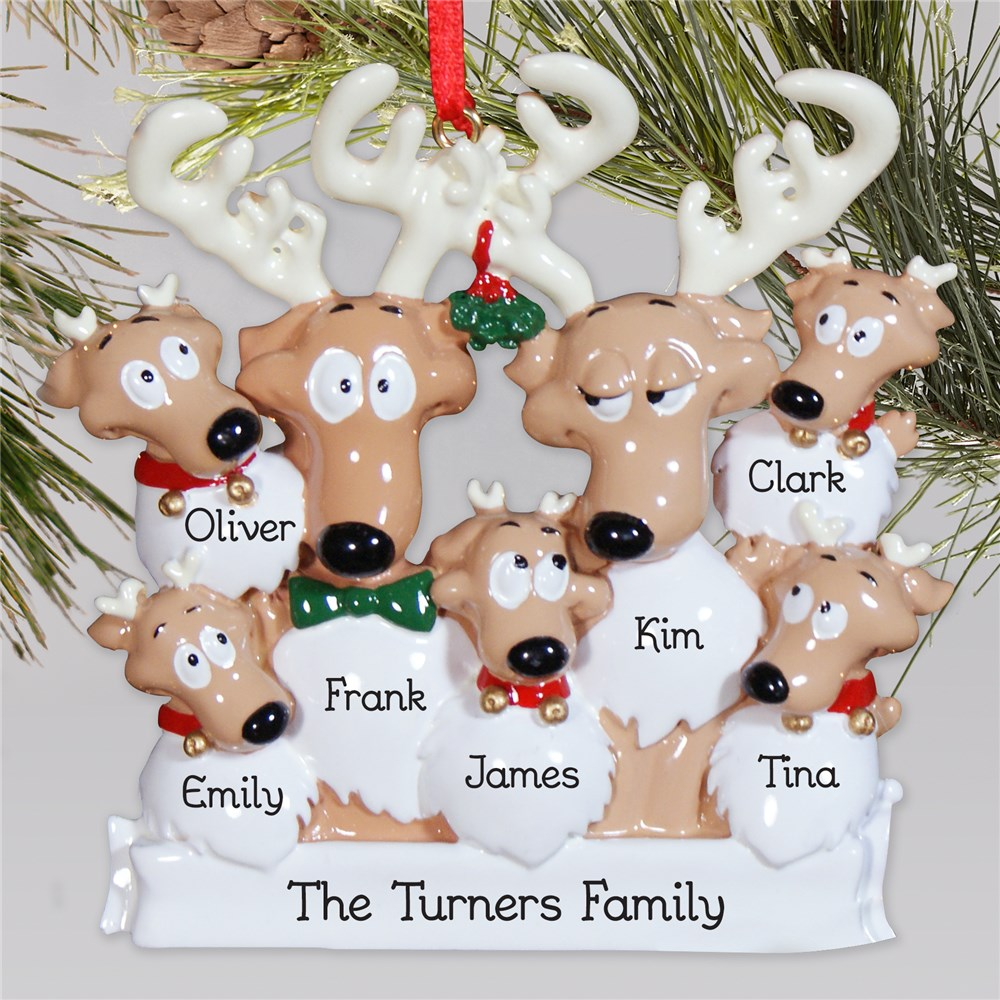 Personalized Reindeer Ornament | Reindeer Christmas Ornament