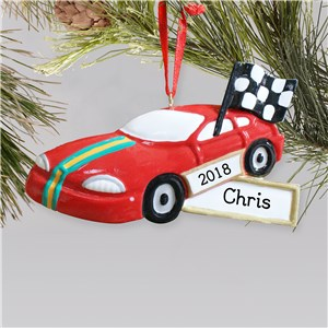Custom Race Car Ornament