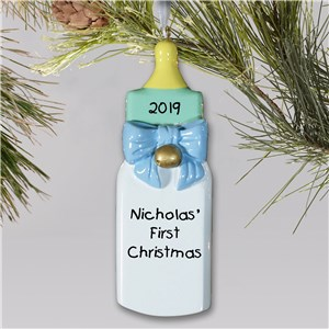 Personalized Baby's First Christmas Ornament for Baby Boy | Baby's First Christmas Ornaments