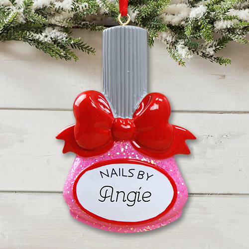 Personalized Manicurist Christmas Ornaments