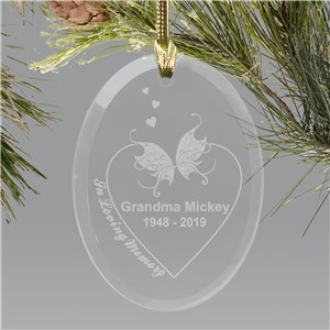Engraved In Loving Memory Ornament | Memorial Ornaments