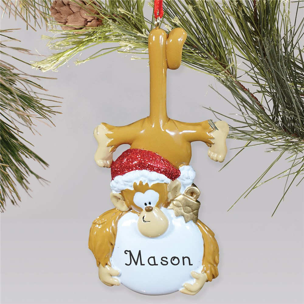 Personalized Monkey Christmas Ornament | Personalized Christmas Ornaments For Kids