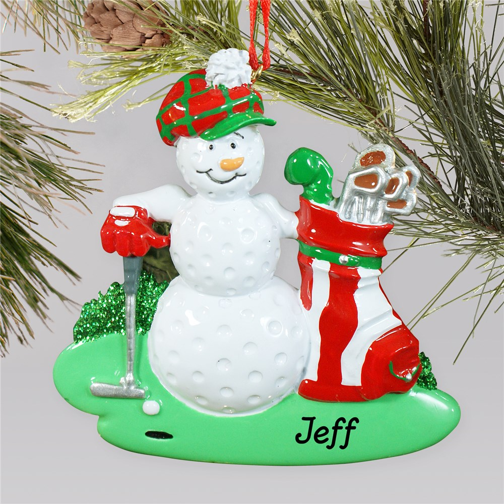 Personalized Golf Ball Golfer Ornament | Personalized Golf Ornament