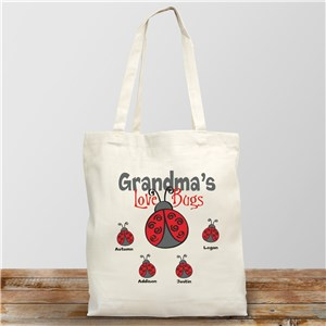 Personalized Love Bugs Tote Bag