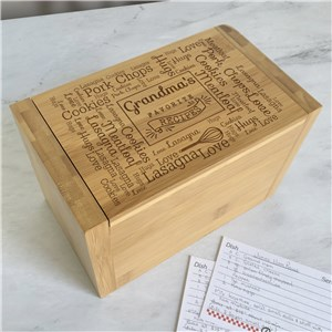 Engraved Recipe Box | Personalized Recipe Box