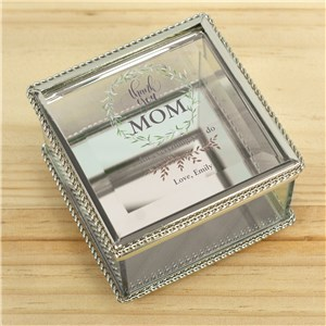 Personalized Thank You Mom Jewelry Box | Personalized Mother's Day Gifts