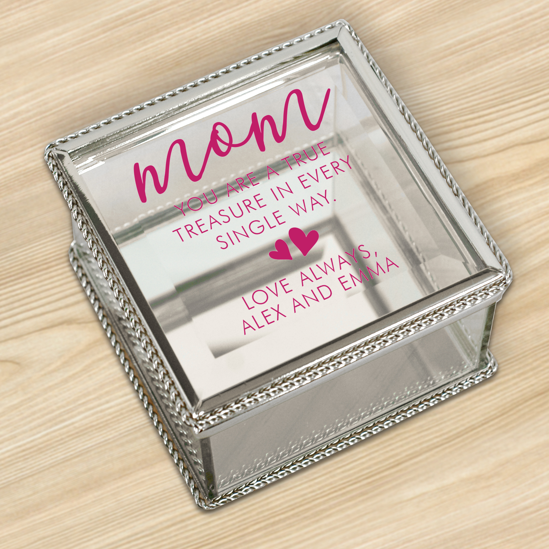 Personalized Mom True and Treasured Jewelry Box | Mother's Day Keepsakes