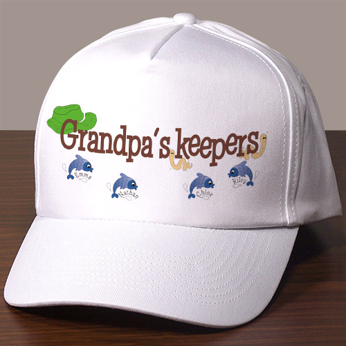 Personalized Fishing Hat | Personalized Grandpa Gifts