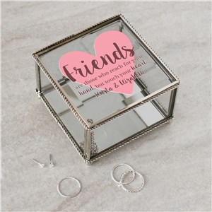 Personalized Friends Who Reach For Your Hand Jewelry Box | Personalized Friendship Gift