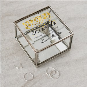 Personalized Bridal Party Jewelry Box | Personalized Will You Be My Bridesmaid Gifts