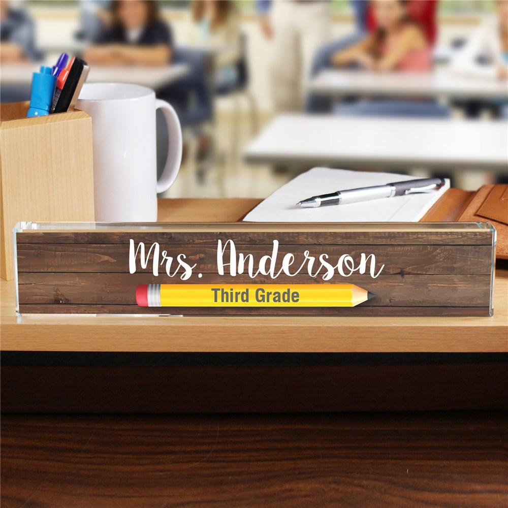 Personalized Pencil Teacher Name Plate | Personalized Gifts For Teachers