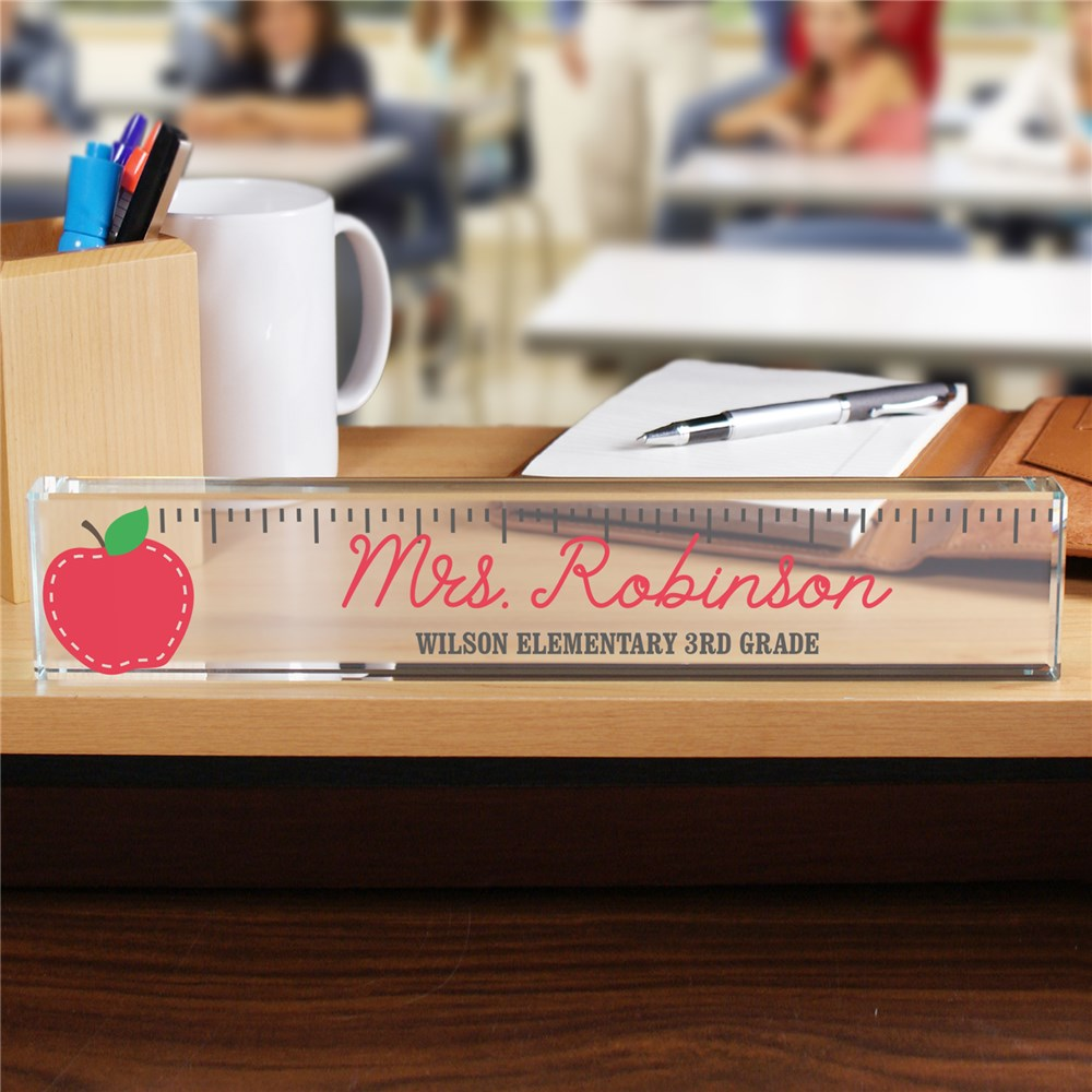 Personalized Ruler Teacher Name Plate | Personalized Teacher Name Plates