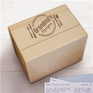 Personalized Recipe Box | Engraved Recipe Box With Name