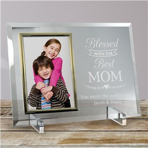 Engraved Picture Frame For Mom | Blessed With The Best Gifts