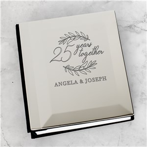 Personalized Years Together Modern Wreath Photo Album 85149950