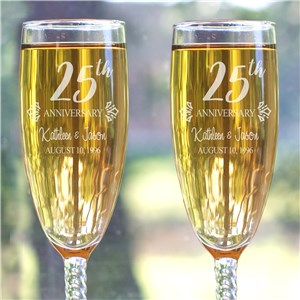 Engraved Anniversary Gifts | Personalized Anniversary Flute Set