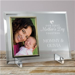 Engraved Our First Mother's Day Together Glass Frame