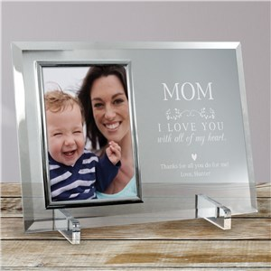 Engraved Love You With All Our Hearts Glass Frame 85160628X