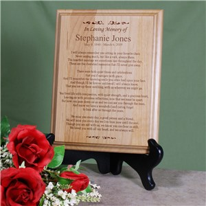 In Loving Memory Personalized Wood Plaque | Memorial Gifts