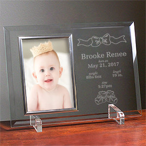In the Beginning New Baby Beveled Glass Picture Frame | Baby Frames