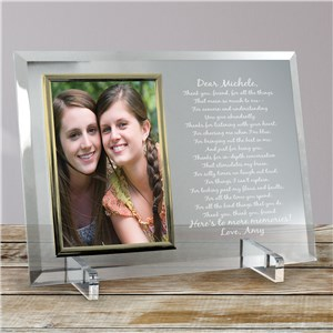 To My Friend... Beveled Glass Picture Frame | Personalized Picture Frames