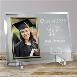Take Pride Graduation Beveled Glass Picture Frame | Graduation Picture Frames