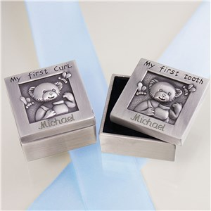 Baby First Curl and Tooth Silver Box Set
