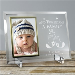 Became a Family New Baby Beveled Glass Picture Frame | Personalized Baby Frames