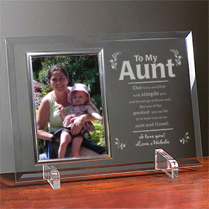 My Aunt Frame Beveled Glass