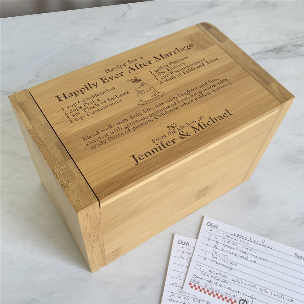 Personalized Recipe Box | Newlywed Recipe Box