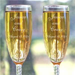 Wedding Couple Personalized Wedding Toasting Flutes