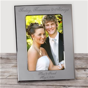 Personalized Wedding Silver Picture Frame | Personalized Wedding Gifts for Couple
