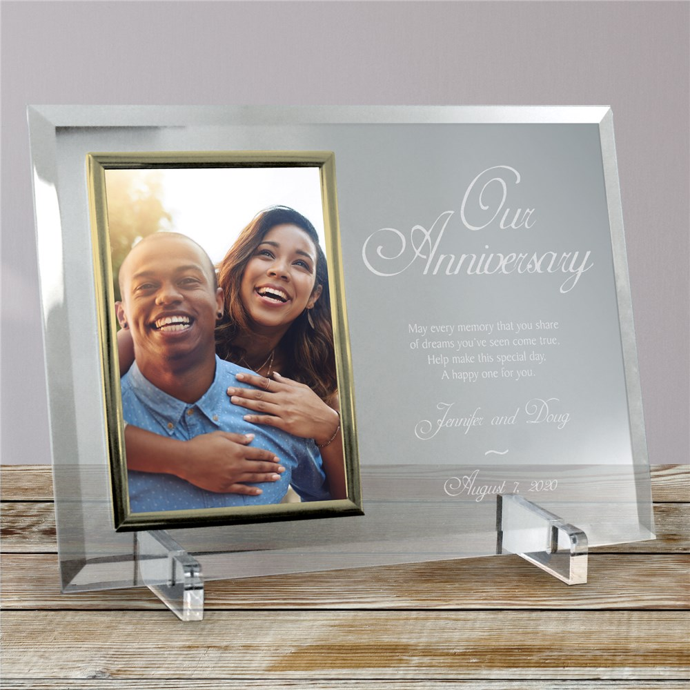 Anniversary Picture Frames | Engraved Glass Frames