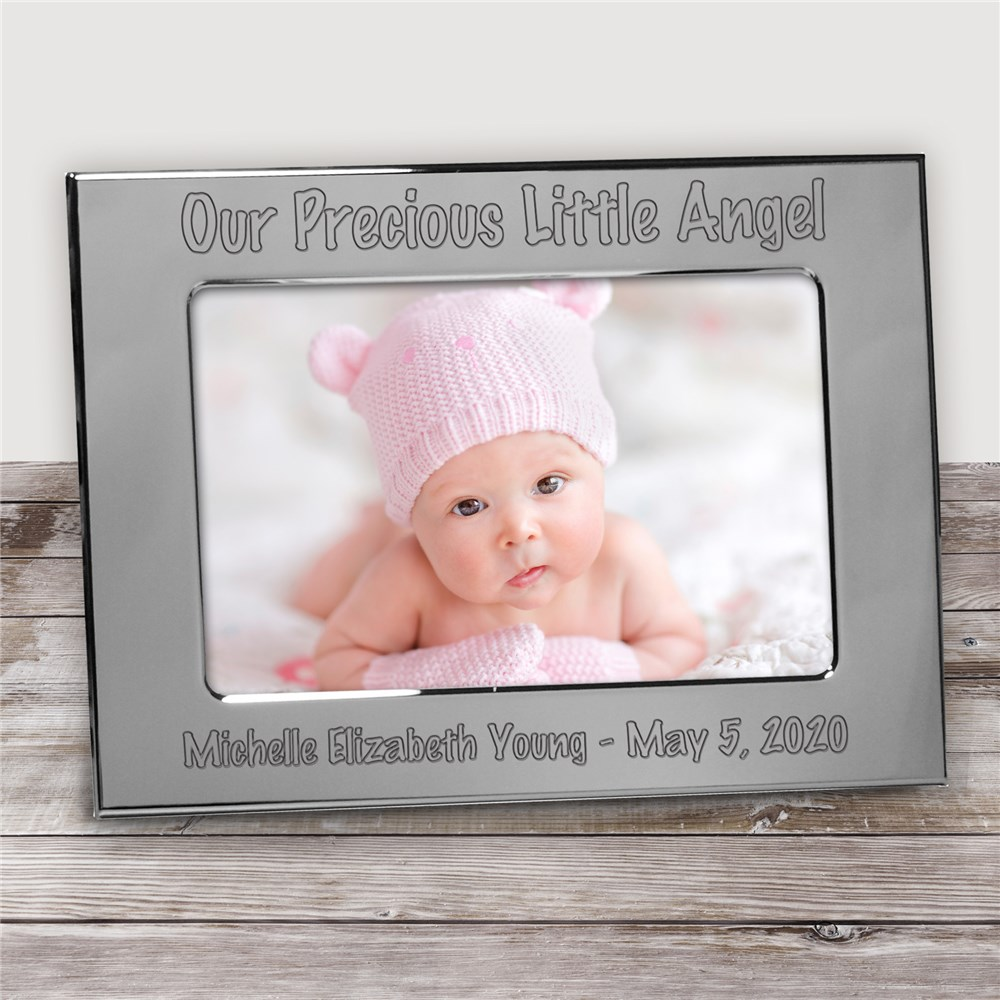 Engraved Baby Silver Picture Frame | Personalized Baby Frames