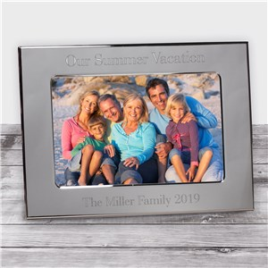 Personalized Vacation Silver Picture Frame | Personalized Picture Frames