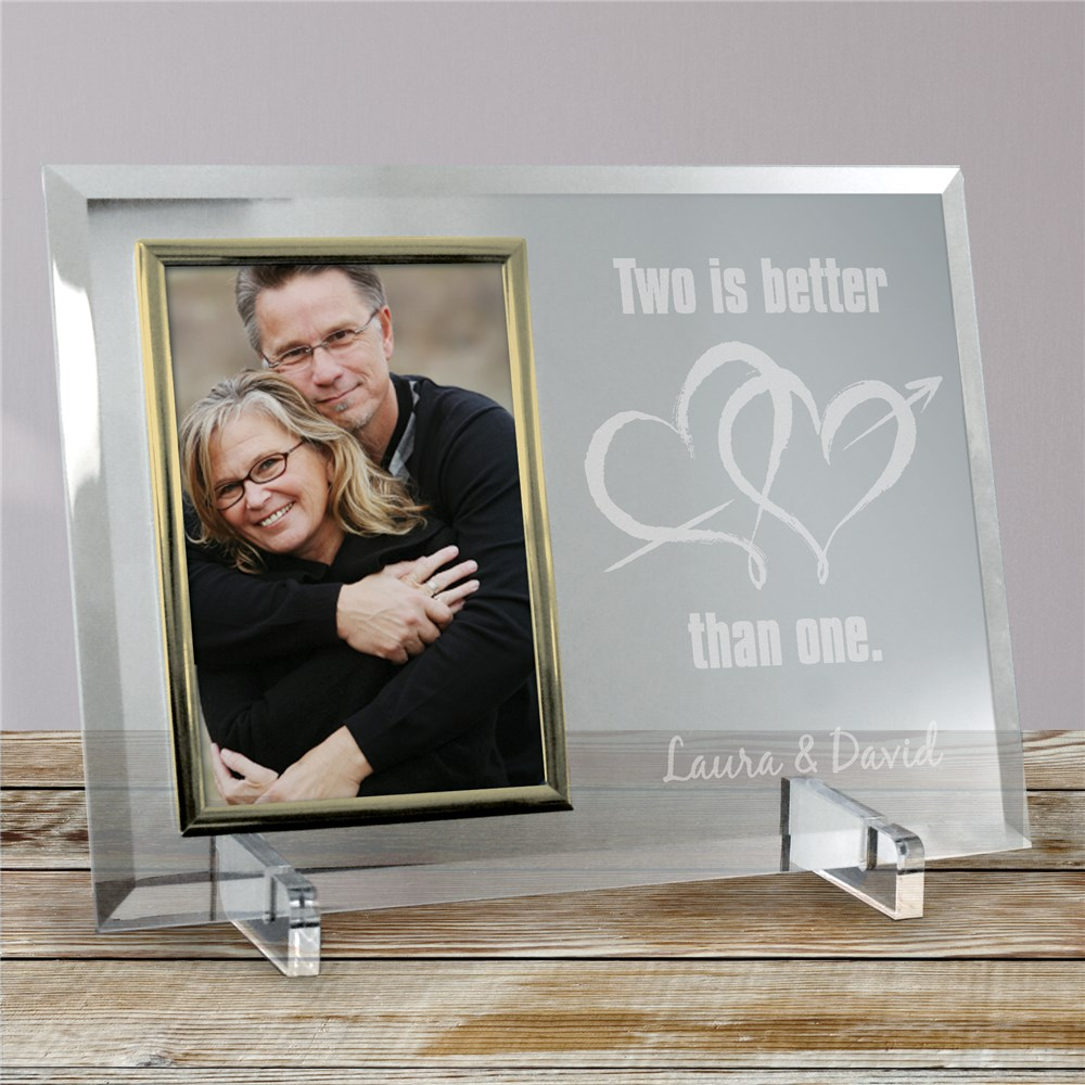 Two Is Better Than One Beveled Glass Picture Frame 8532318