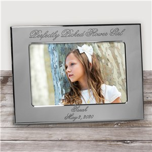 Personalized Flower Girl Silver Picture Frame | Personalized Picture Frames