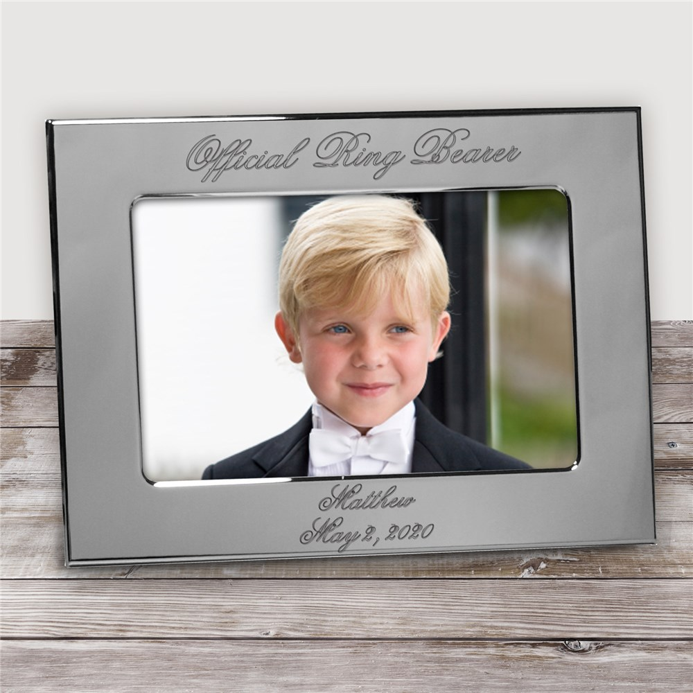 Official Ring Bearer Personalized Silver Picture Frame | Personalized Picture Frames