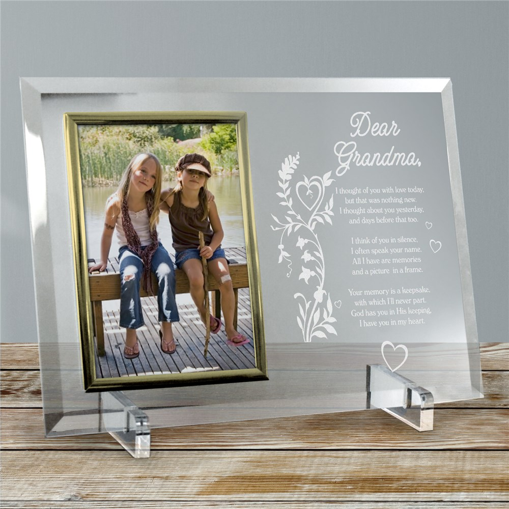 Your Memory is a Keepsake Personalized Beveled Glass Picture Frame | Personalized Picture Frames