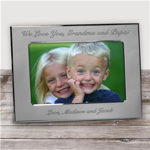 Engraved Custom Message Silver Picture Frame | Personalized Picture Frames