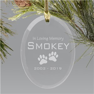 Pet Memorial Glass Ornament | Pet Memorial Ornament