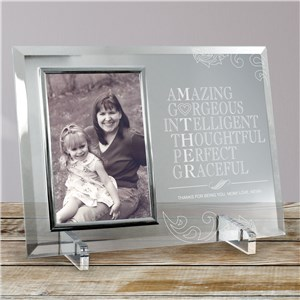 Engraved Glass Picture Frame For Mom | Mother's Day Picture Frames