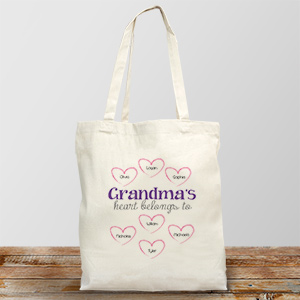Personalized Heart Belongs To Canvas Tote Bag 859332