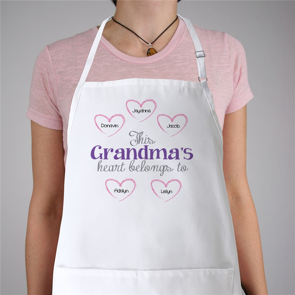 Personalized Heart Belongs To Apron | Grandma Gifts
